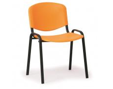 Konfereční židle plastová ISO oranžová,černý kov, židle konferenční