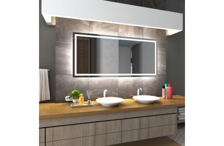 Koupelnové zrcadlo s LED osvětlením 86x65,1 cm ATLANTA