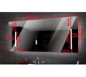 Koupelnové zrcadlo s LED podsvětlením 129,5x140 cm ATYPICKÉ  IP44