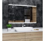 Koupelnové zrcadlo s LED podsvětlením 110x90 cm BRASIL