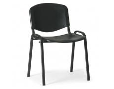 Konfereční židle plastová ISO černá,černý kov , židle konferenční