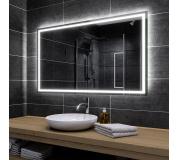 Koupelnové zrcadlo s LED podsvícením 108,5x72,5 cm ATLANTA, hranaté