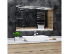 Koupelnové zrcadlo s LED podsvětlením 120x60 cm BIRMA