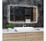 Koupelnové zrcadlo s LED podsvětlením 130x75 cm MADRID