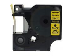 DYMO páska D1 45808 19mm x 7m černo/žlutá kompatibilní páska