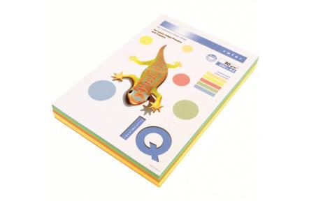 Barevný papír IQ A4 80GR 5x50 TREND mix formát A4, 250 listů (5x50listů)