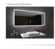 Koupelnové zrcadlo s LED podsvětlením 100x80cm BOSTON