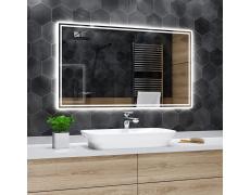Koupelnové zrcadlo s LED podsvětlením 100x70cm WIEDEN