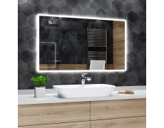 Koupelnové zrcadlo s LED podsvícením 160x90cm BOSTON