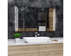 Koupelnové zrcadlo s LED osvětlením 45x90 cm PRAGA