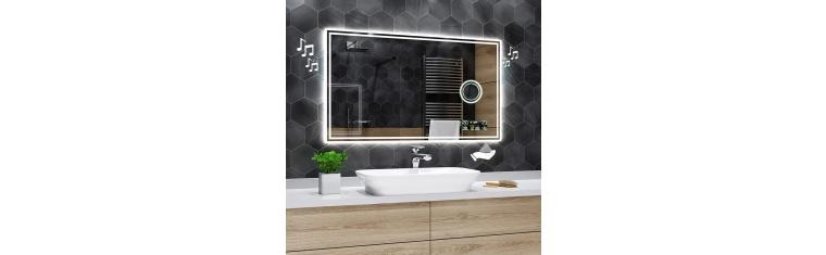 Koupelnové zrcadlo s LED podsvícením 135x80 cm ATLANTA