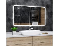 Koupelnové zrcadlo s LED osvětlením 160x100 cm OSAKA ATYPICKÉ