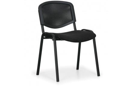 Konfereční židle čalouněná Viva Mesh černá, černý kov, židle konferenční