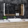 Koupelnové zrcadlo s LED podsvícením 60x40 cm SEATTLE