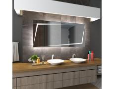 Koupelnové zrcadlo s LED podsvětlením 140x90 cm BERLIN