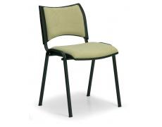 Konfereční židle čalouněná Smart zelená, černý kov, židle konferenční
