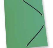 Mapa tříklopá PVC s gumou neprůhledná zelená, desky na spisy s gumou