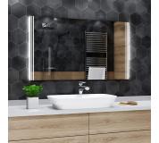 Koupelnové zrcadlo s LED podsvícením 90x70 cm ARICA