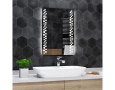 Koupelnové zrcadlo s LED podsvícením 60x80 cm TORONTO