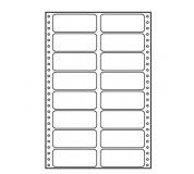 Tabelační etikety 90x36mm dvouřadé