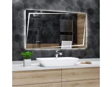 Koupelnové zrcadlo s LED podsvětlením 120x60 cm BERLIN