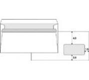 Obálka DL s okénkem samolepící 1000ks