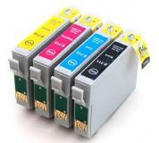 Epson T0715 sada 4barvy, 100% NEW kompatibilní inkoustová kazeta KAPRINT NEW CHIP 14ml, T0711, T0712,T0713,T0714