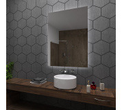 Koupelnové zrcadlo s LED podsvětlením 70x90 cm DUBAI