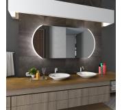 Koupelnové zrcadlo s LED podsvětlením 140x83 cm BALTIMORE