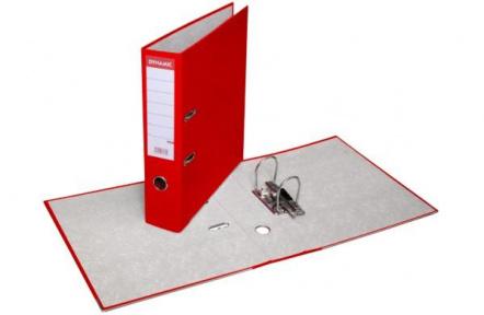 Pořadač pákový A4 PREŠPAN 8cm červený