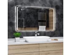 Koupelnové zrcadlo s LED podsvětlením 120x95 cm BARCELONA