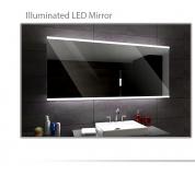 Koupelnové zrcadlo s LED podsvícením 120x80 cm BRASIL