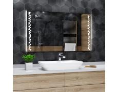 Koupelnové zrcadlo s LED podsvícením 140x100cm DETROIT