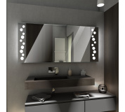 Koupelnové zrcadlo s LED podsvícením 45x90 cm TORONTO