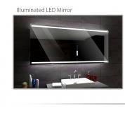 Koupelnové zrcadlo s LED podsvětlením 120x70cm DENVER