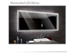 Koupelnové zrcadlo s LED podsvícením 120x70cm WIEDEN